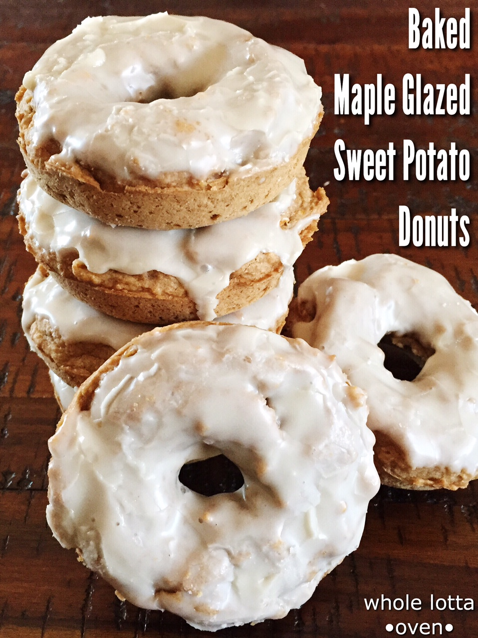 Baked Maple Glazed Sweet Potato Doughnuts – Whole Lotta Oven